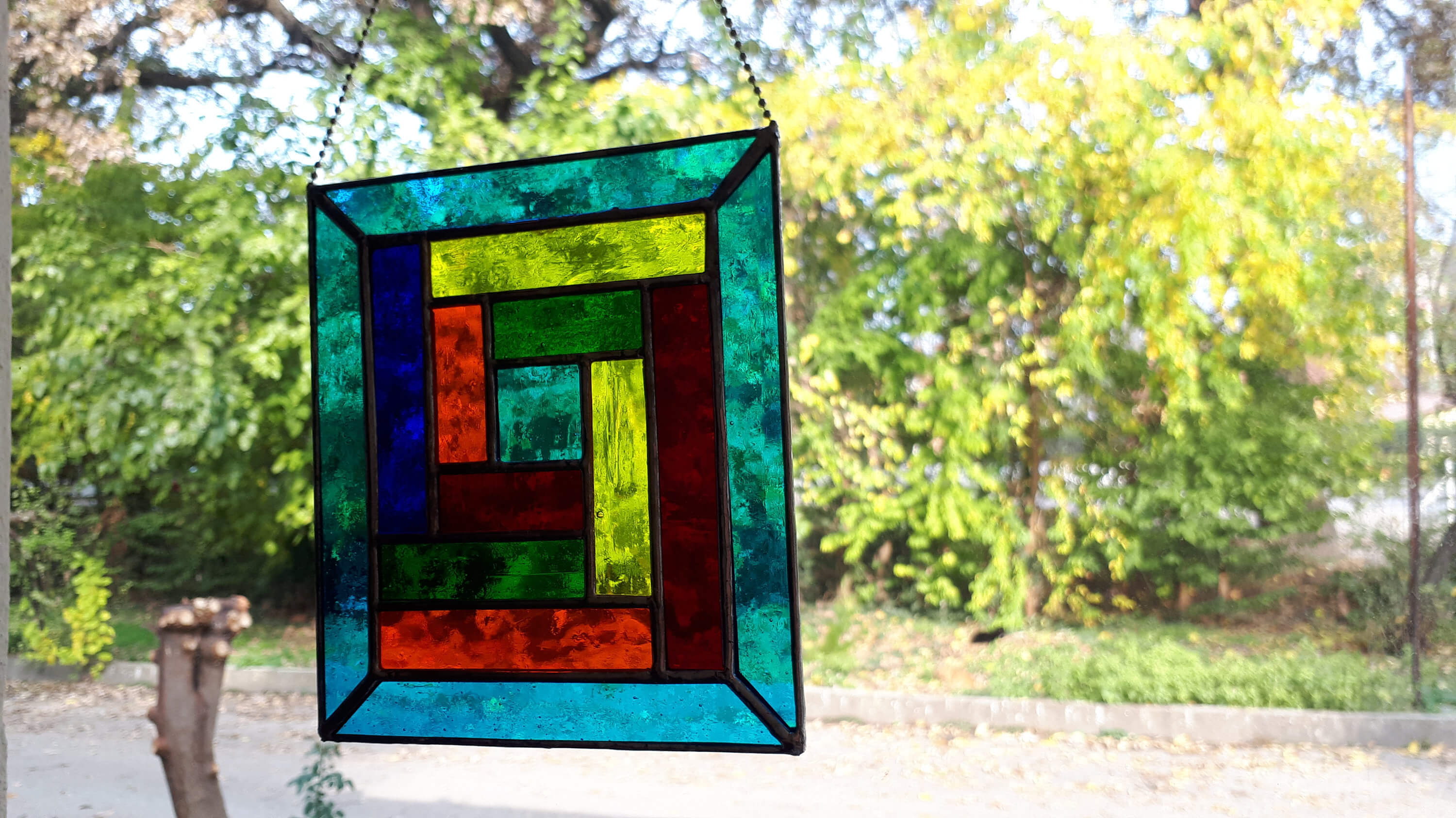 Colorful Glass Panels