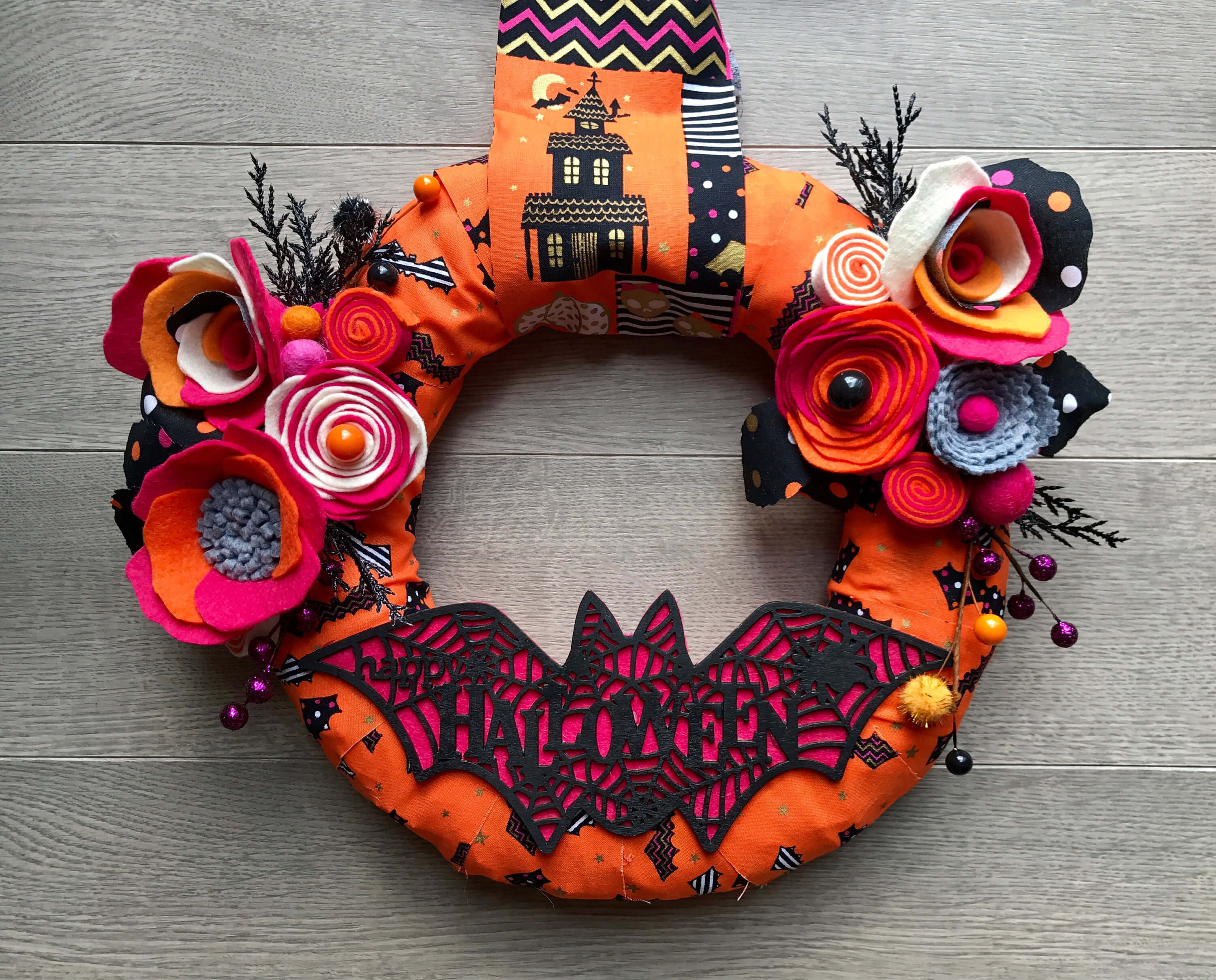 haloween wreath