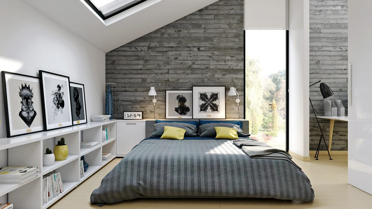industrial bedroom deign