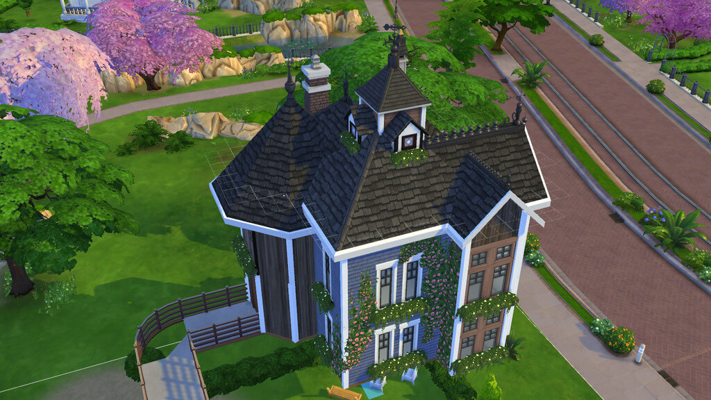 sims 4 house ideas: Decorate roof