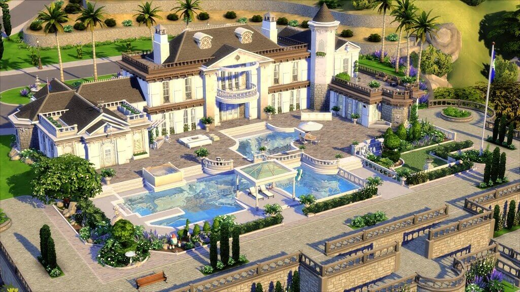 sims 4 house ideas: Victorian Vintage Mansion